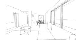schizzo interno appartamento